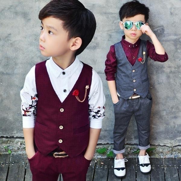 Boy, Two-Piece Suits, Waist Coat, pants