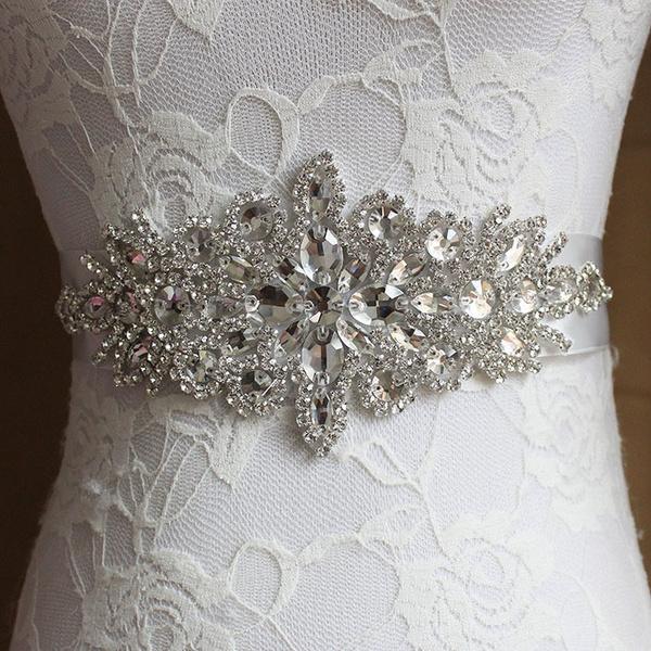 Fashion Accessory, Fashion, weddingbridalsash, rhinestoneapplique