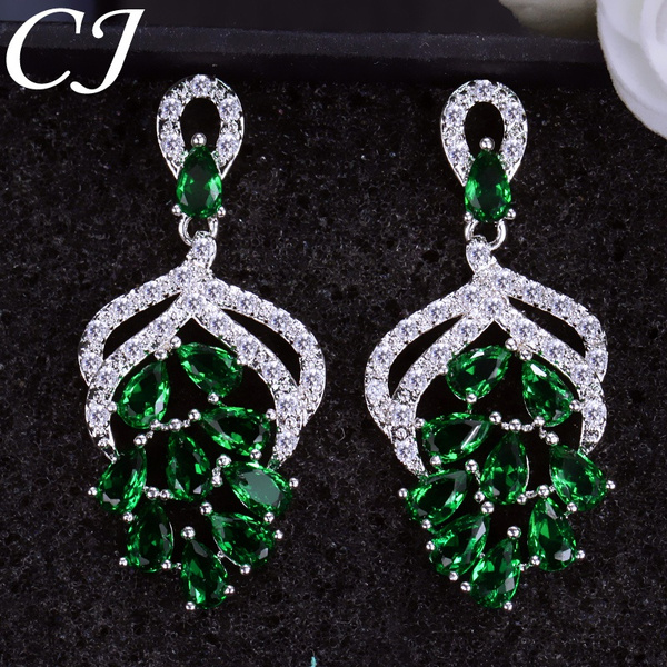 Cubic Zirconia, evening, Gifts, Stud Earring