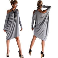 women sexy dress, pulloversdres, Strapless Dress, irregulardres