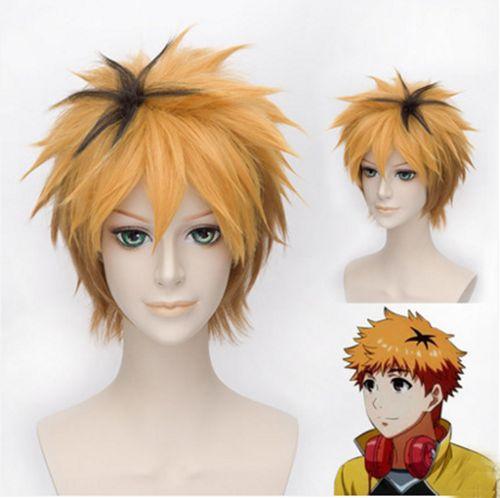 Anime Tokyo Ghoul Nagachika Hide Hideyoshi Cosplay Golden Short Wig Wish
