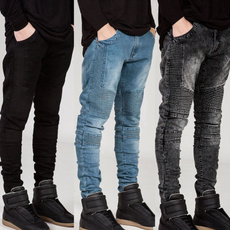 men jeans, slim, sport pants, Casual pants