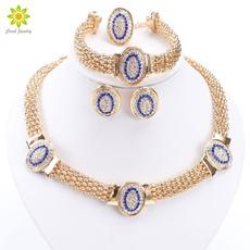 goldplated, weddingjewelryset, Jewelry, Bridal Jewelry Set