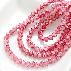 Crystal, diybead, burgundy, loose beads