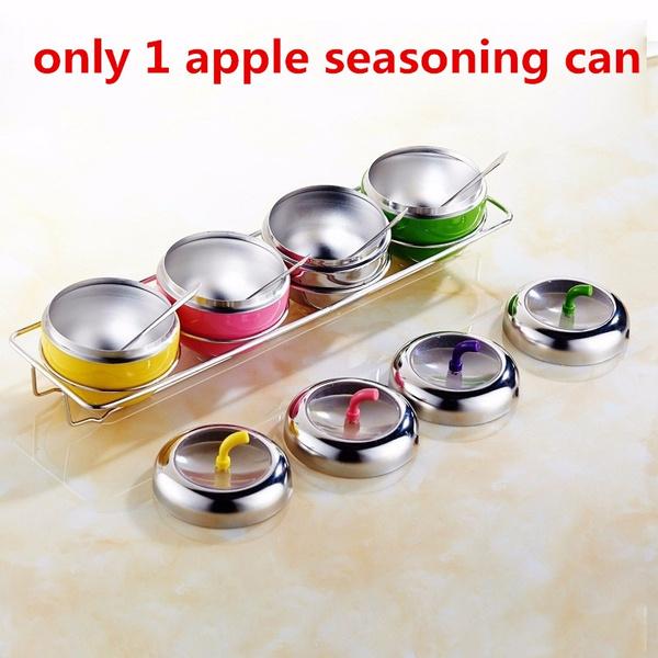 appleshapedcruet, seasoningcan, Kitchen & Dining, Apple
