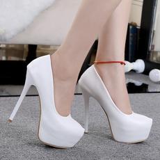 Women, whiteheel, Womens Shoes, womensexypump