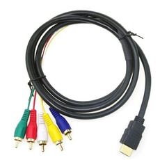 goldplated, gold, hdmimaleto5rcargb, Hdmi