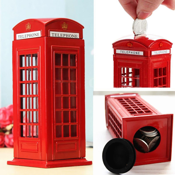 Box, piggybank, Gifts, londontelephonebooth