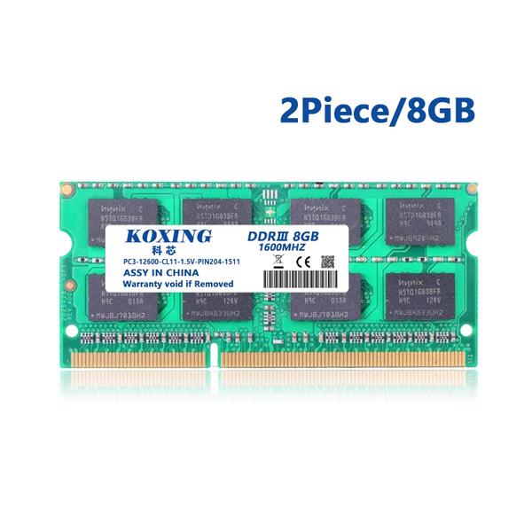 16gb Kit 8gbx2 Ddr3 Pc3 12800 Laptop Memory Module 204 Pin Sodimm 1600mhz Cl11 Notebook Laptop Ram Genuine Koxing Brand With Lifetime Warranty Wish