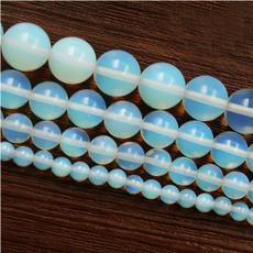 Charm Bracelet, 8MM, quartz, opals