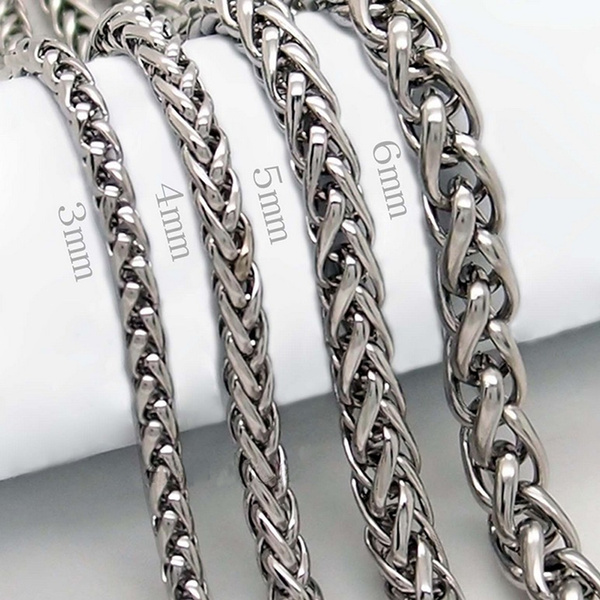 Steel, Stainless, Chain Necklace, Fashion
