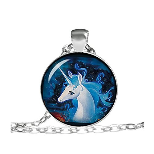 art, Jewelry, unicorn, Necklace