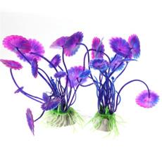 Plants, aquatic, Tank, purple