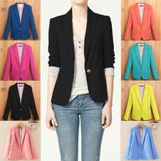 Autumn, Fashion, Blazer, solid