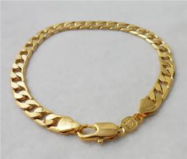 yellowgoldbracelet, golden, solidbracelet, Jewelry