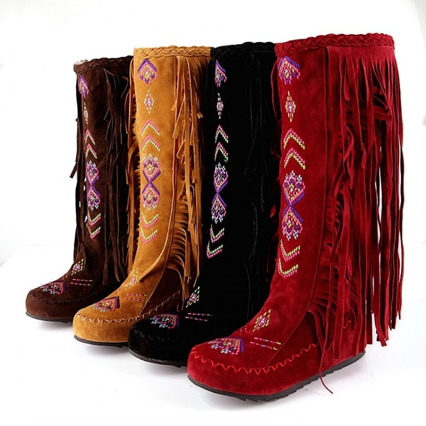 Knee High Boots, flatsboot, moccasinbootie, womenmidcalfboot