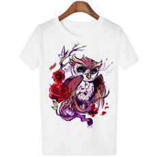 Summer, Owl, Tops, short-sleeved shirt