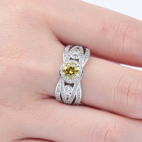 Sterling, Fashion Jewelry, citrinering, Silver Ring