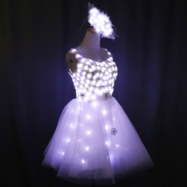New Arrival Bride Light Up Luminous Clothes Led Costume Ballet Tutu Led Dresses For Dancing Skirts Wedding Party Wish