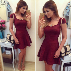 Mini, short sleeve dress, Sleeve, Cocktail