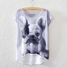 bulldogtshirt, Fashion, lossetshirt, batsleevetshirt