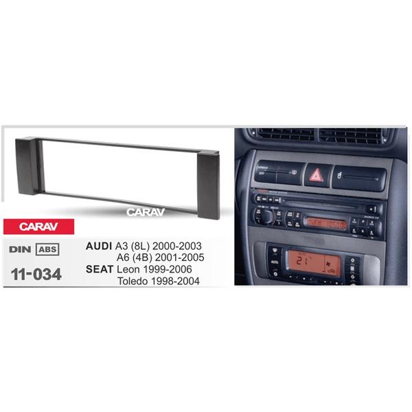 Audi A3 8l 00-03 Cd Radio Estéreo De Facia Fascia Panel envolvente Panel ct24au07 Nuevo
