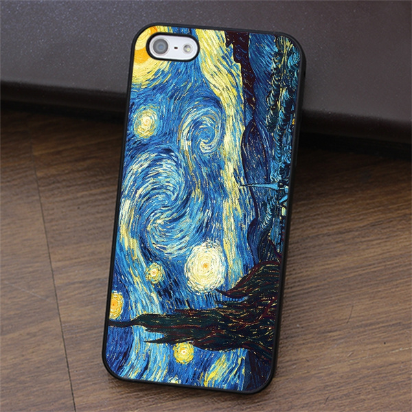 Vincent Van Gogh The Starry Night phone case cover for iphone 4 4s 5 5s SE 5c 6 6S / 6 Plus / 6S Plus for Samsung galaxy S3 S4 S5 S6 S7 NOTE 2 / 3 / 4 ...