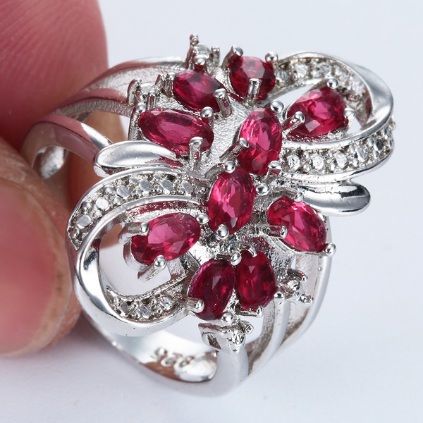 Sterling, Cubic Zirconia, crystal ring, wedding ring