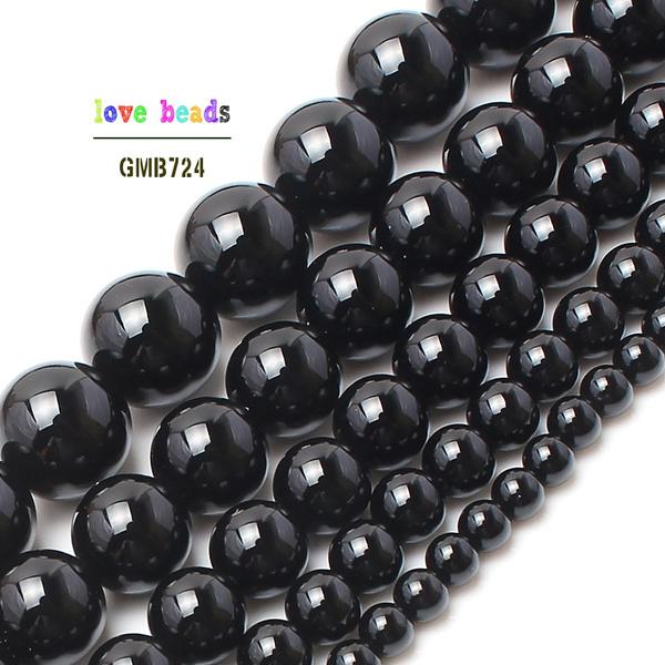 onyx, handmadebead, blackagatebead, loose beads