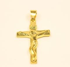 yellow gold, golden, Christian, Cross necklace