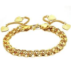 Charm Bracelet, yellow gold, Chain bracelet, Love