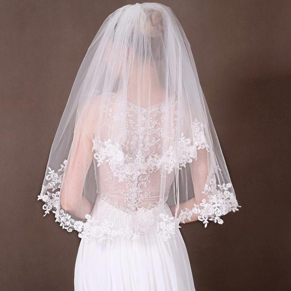 Beautiful, weddingveil, Lace, bridal accessories