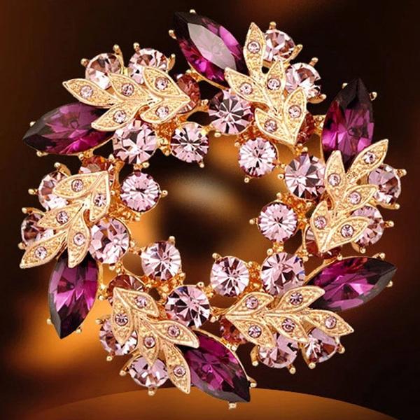 Fashion, Pins, Bouquet, Rhinestone