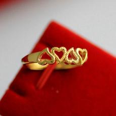 hollowheartdesign, yellow gold, adjustablesizering, bandring