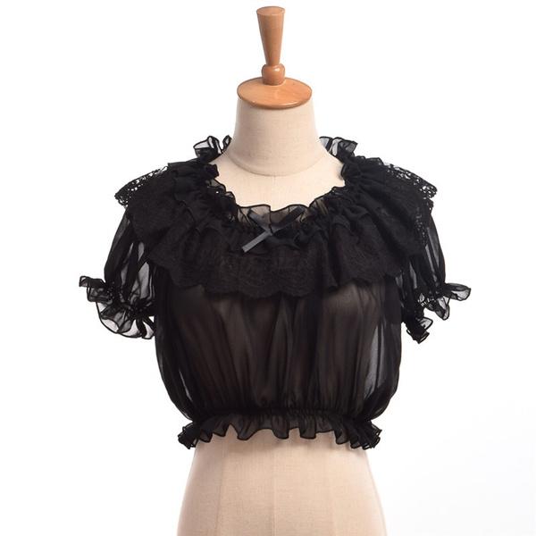blouse, Tops & Blouses, women Chiffon Blouse, crop top