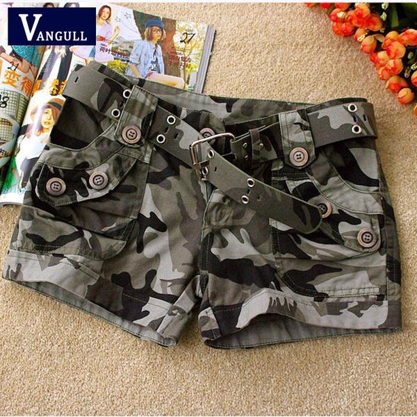 Trousers & Shorts, Fashion, pants, camouflageshortsforwomen