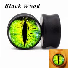 eartunnelplug, eye, Jewelry, Green