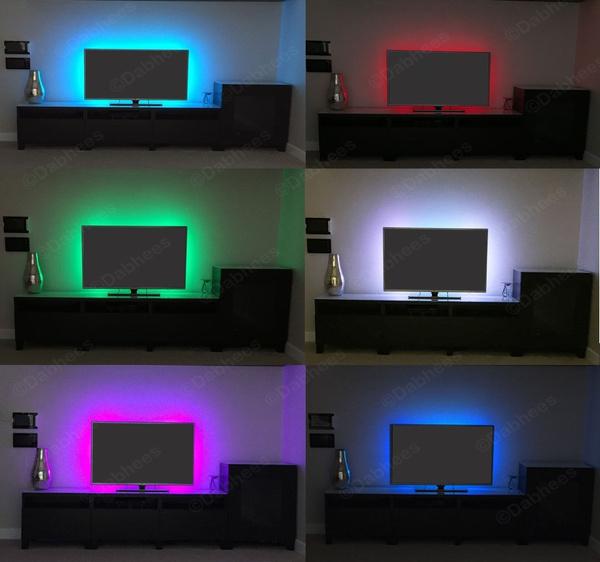 rgb led strip usb colour changing lighting kit 50cm tv pc ps4 background light wish rgb led strip usb colour changing lighting kit 50cm tv pc ps4 background light wish