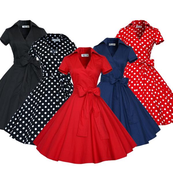 Swing dress, short sleeve dress, Vintage Dresses, Cocktail Party Dress