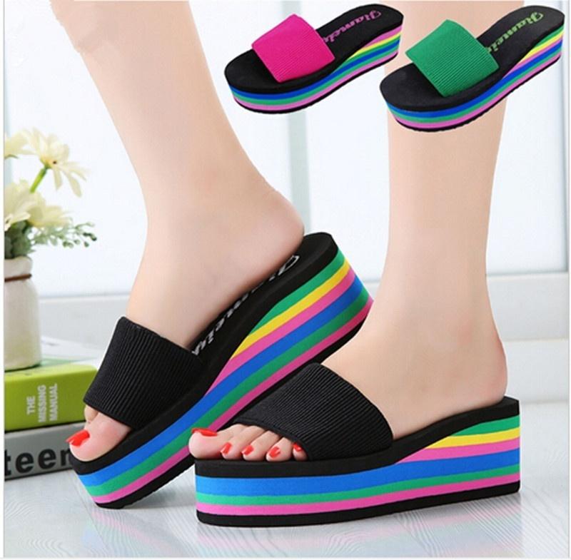Heels Sandals Rainbow