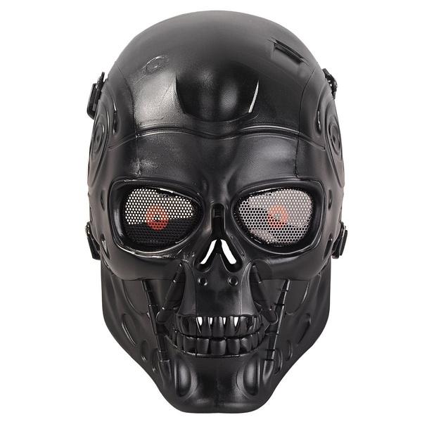 Details about  /Airsoft Paintball BB Gun Full Face Mask Halloween Tactical Protect Cyan Tengu