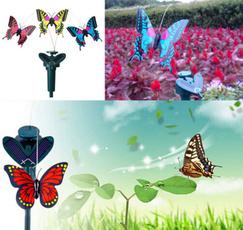 solarpowerflyingbutterflygardendecoration, Decor, Butterflies, Garden