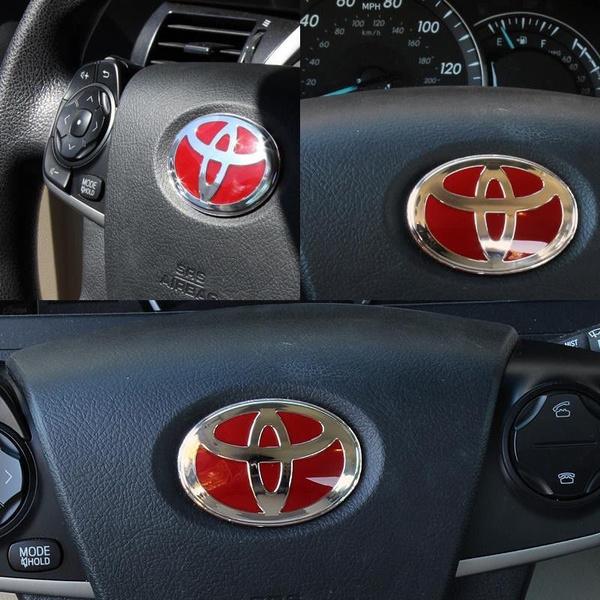 emblembadge, steeringwheelsticker, steeringwheelemblem, Toyota