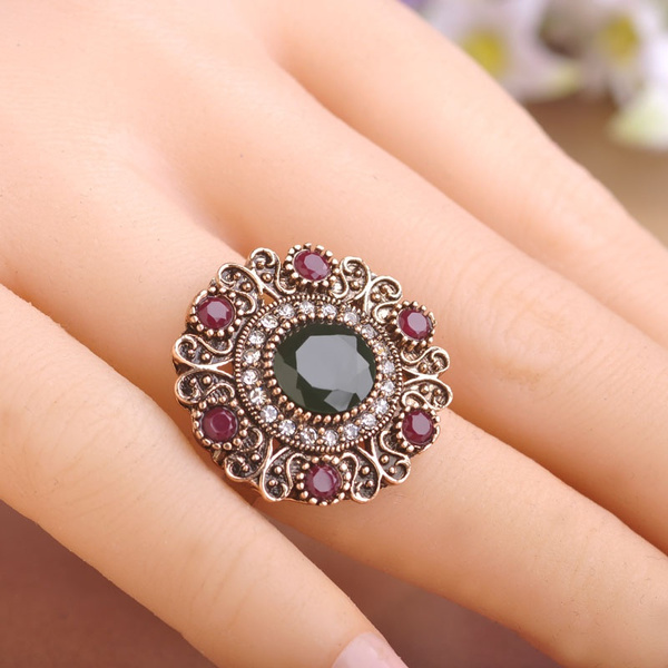 Flowers, vintagepartyring, Jewelry, turkish