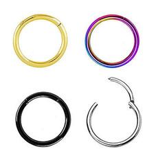 Steel, Jewelry, Hoop, Stainless Steel
