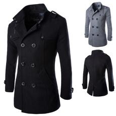 woolen, woolen coat, doublerow, Coat