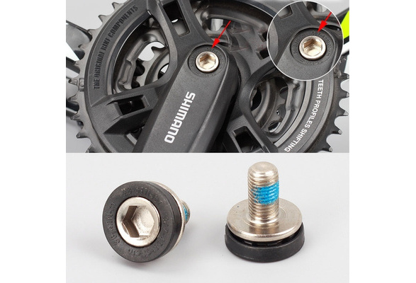 Set of 2 SHIMANO crank bolts bolt bike bicycle M8 Allen Key Bottom Bracket Axle