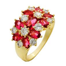 yellow gold, christmasgiftring, DIAMOND, rubyanddiamondring