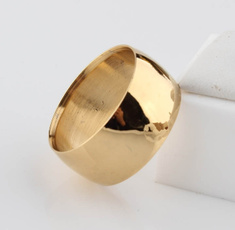 Steel, yellow gold, wedding ring, gold