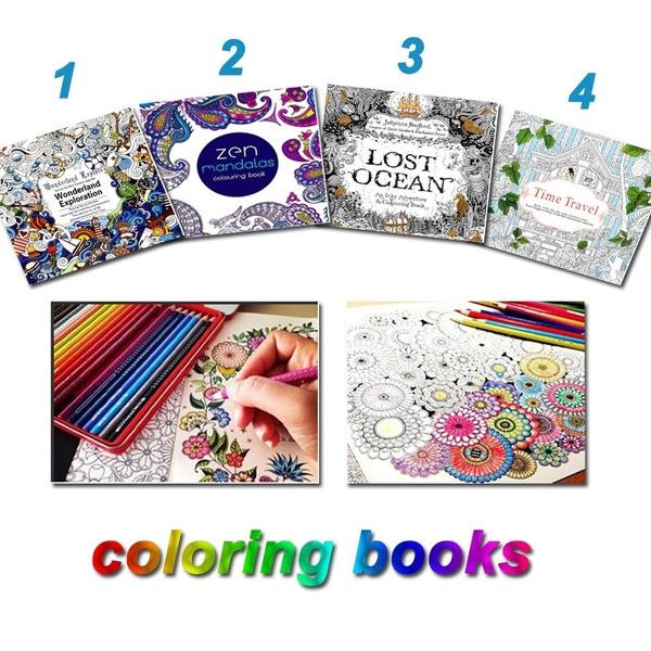 Lost Ocean Drawing Coloring Book Graffiti Books Adult Painting Children  Wish